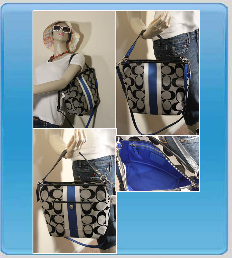Hamptons Weekend Signature Stripe Shoulder Bag 10055 28