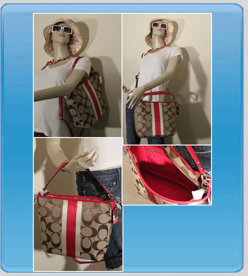 Hamptons Weekend Signature Stripe Shoulder Bag 10055 67