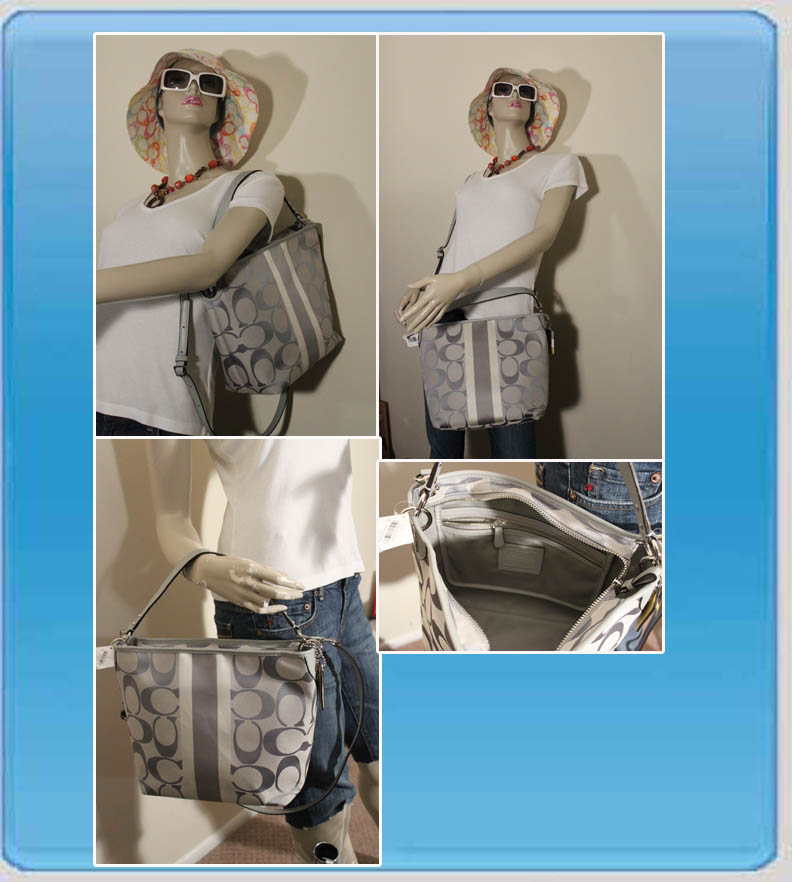 Hamptons Weekend Signature Stripe Shoulder Bag 10055 6