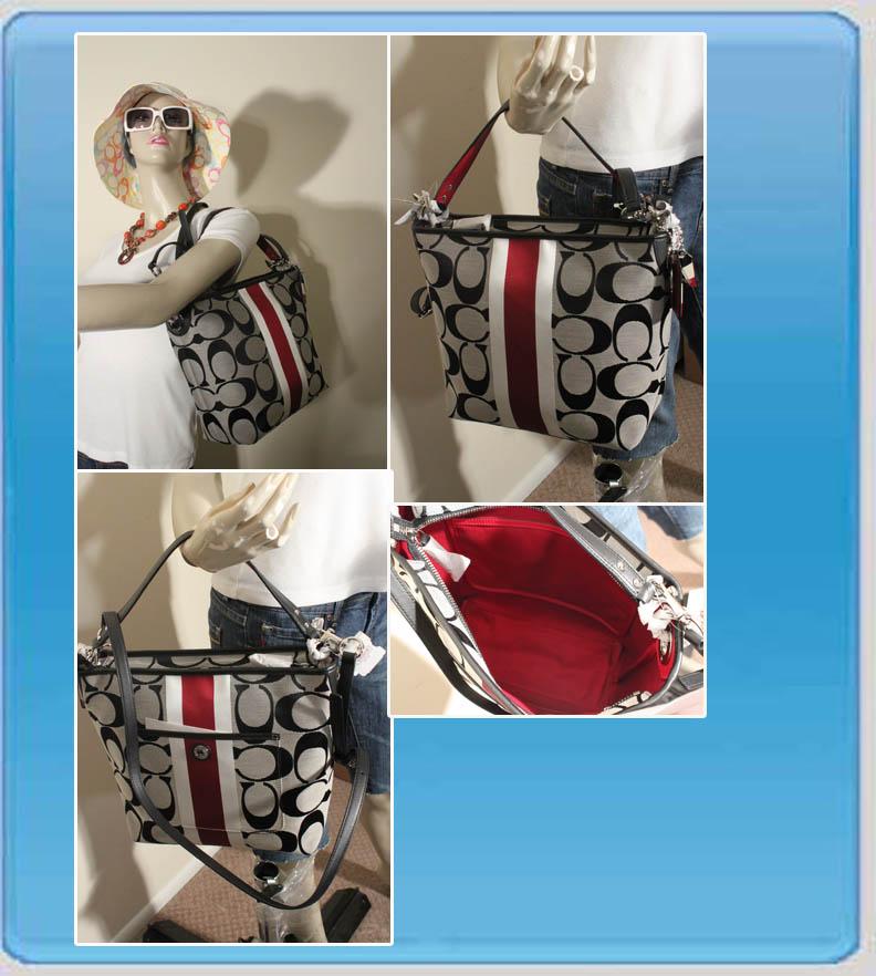 Hamptons Weekend Signature Stripe Shoulder Bag 10055 8
