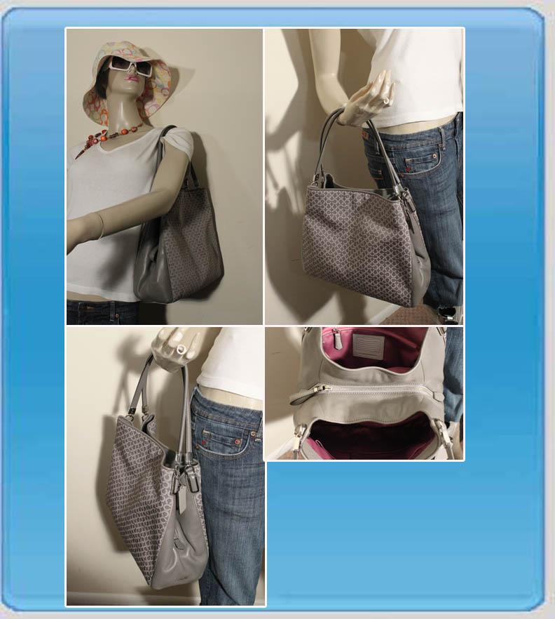 Coach Madison Op Art Needlepoint Small Phoebe Shoulder Bag 42