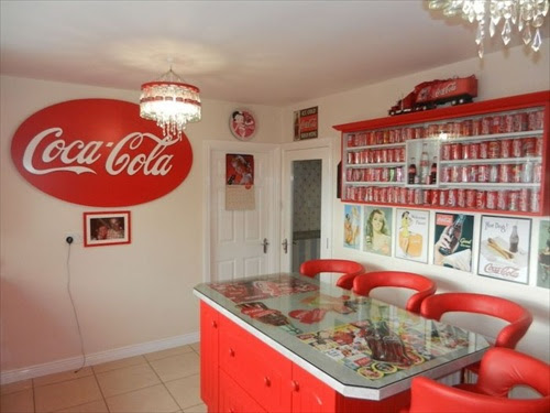ตกแต่งบ้านด้วย coca-cola