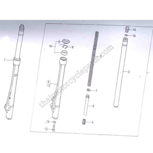 FORK ASSY ,R  FR  (SHOWA) - Thai Motorcycle parts and accessories