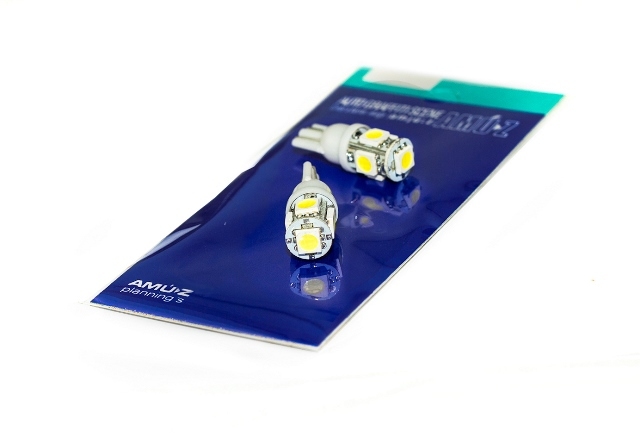 U หลอดไฟ LED T10 รุ่น JP1 #5050 สีขาว SMD 5 เม็ด (6500K WHITE)