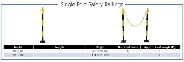 Single Pole Safety Railings